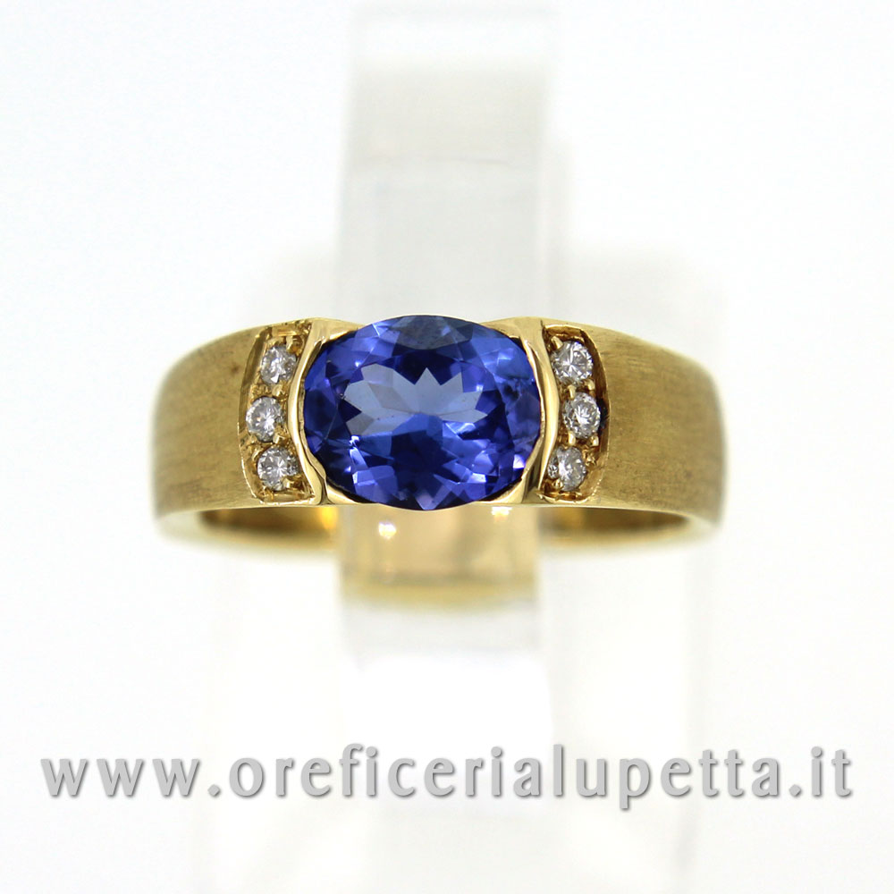 Anelli  con tarzanite e brillanti