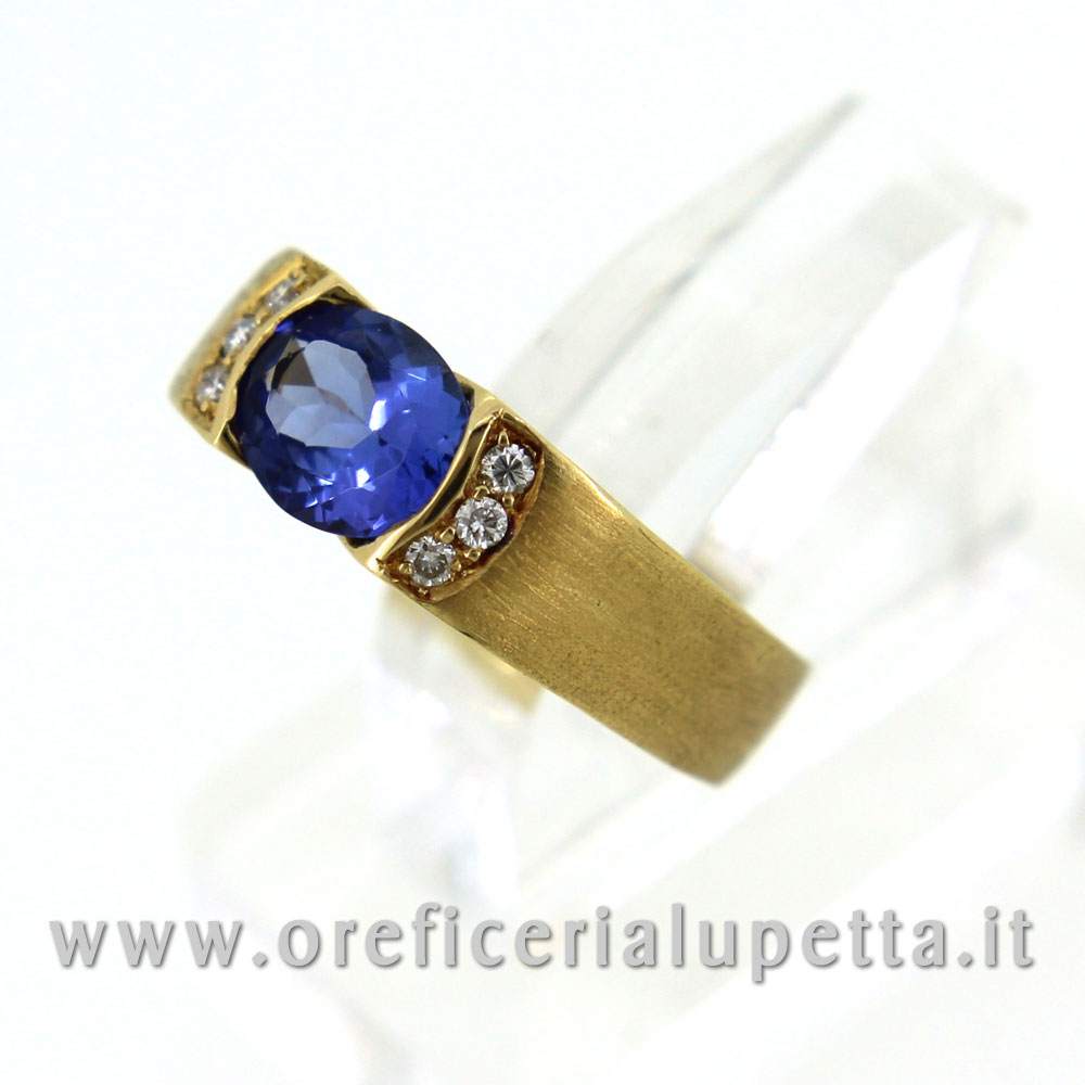Anelli con tarzanite e brillanti 2
