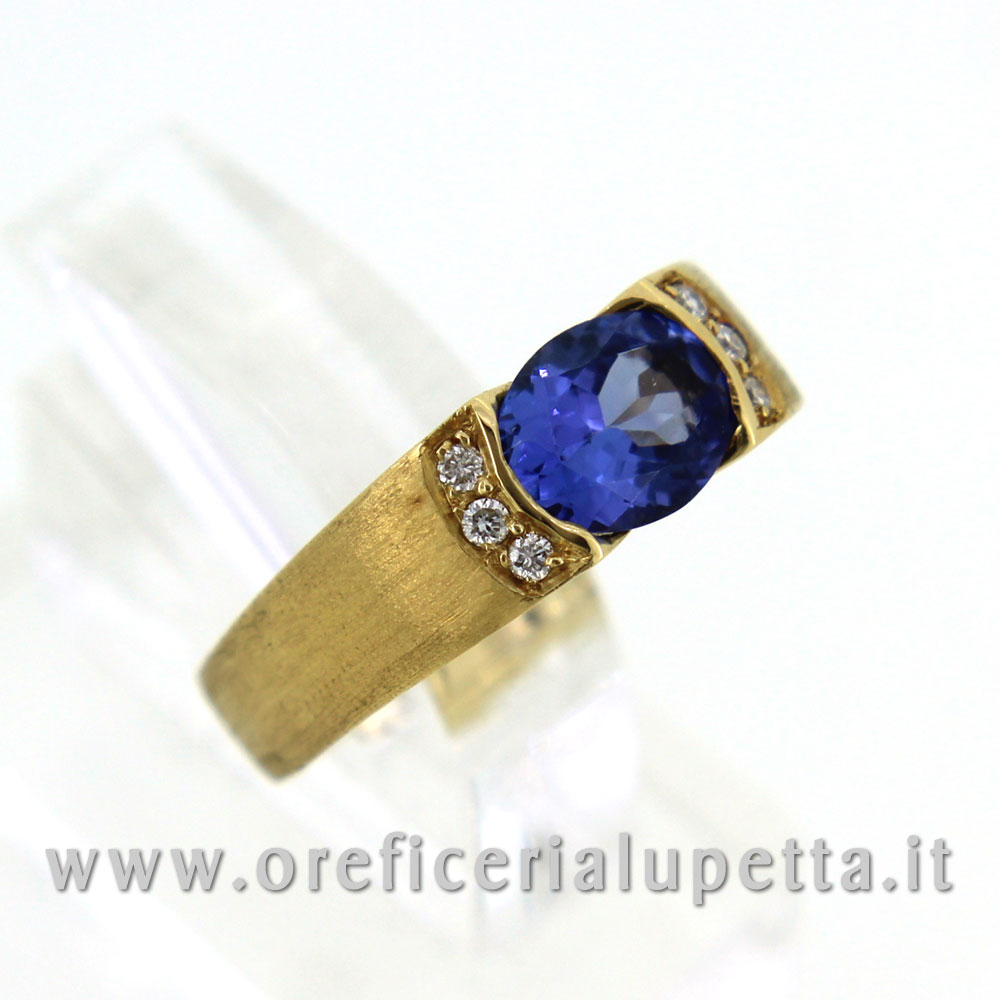 Anelli con tarzanite e brillanti 3
