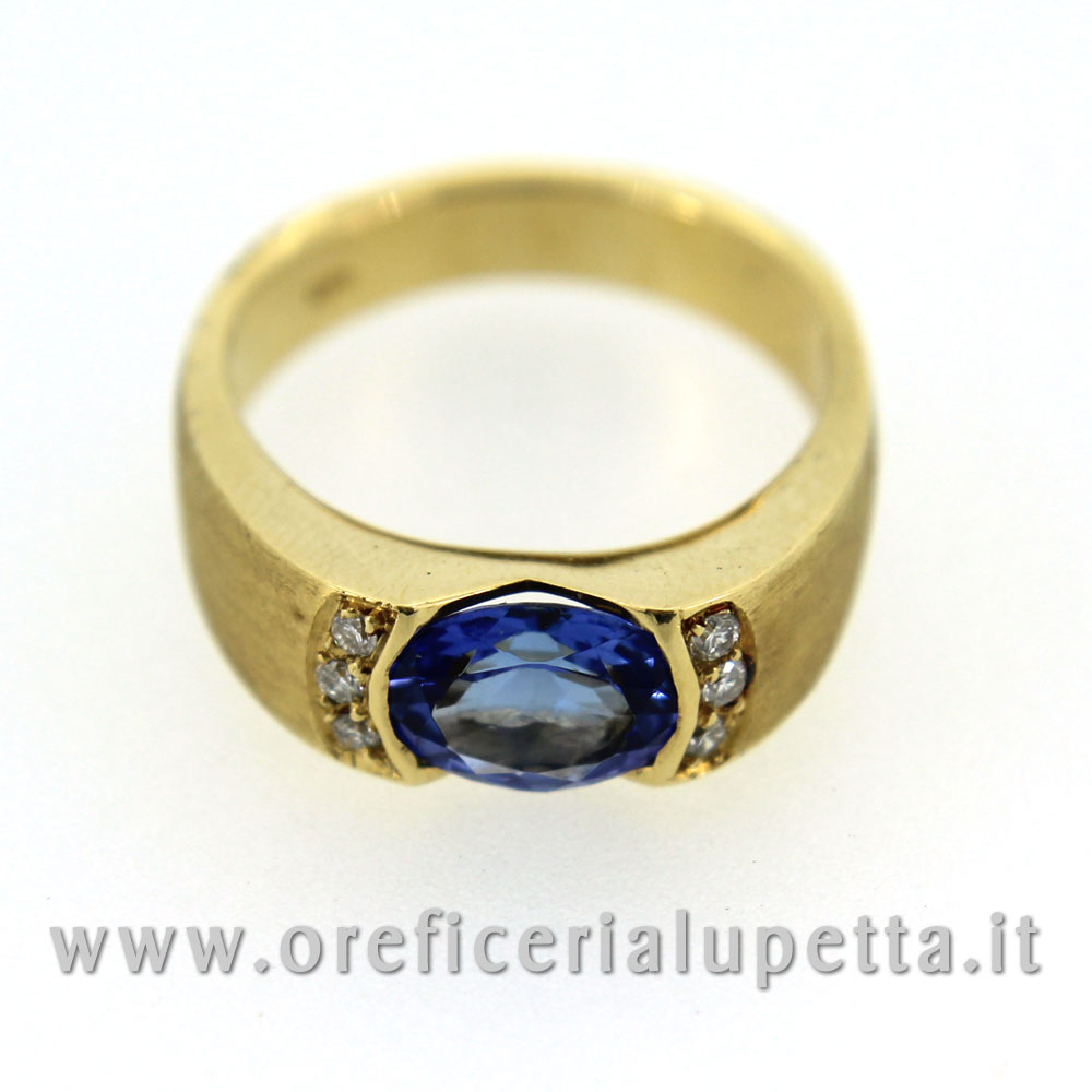 Anelli con tarzanite e brillanti 4