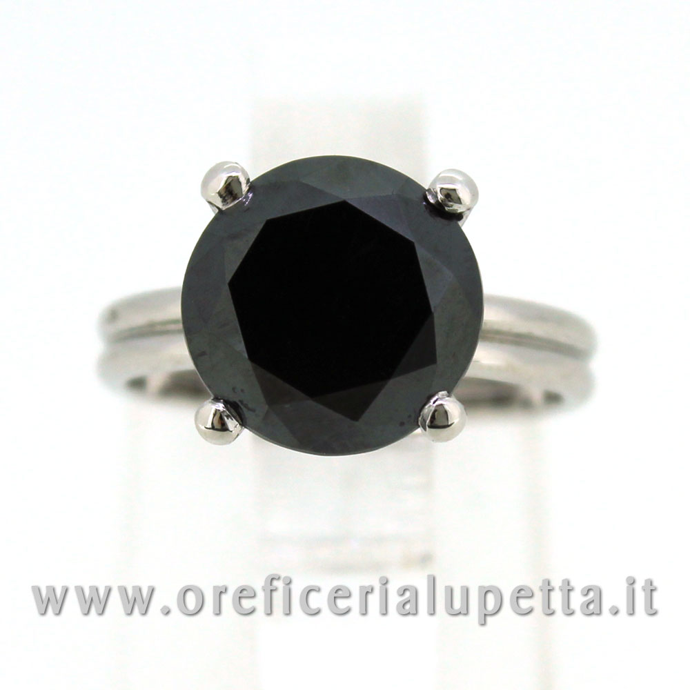 Anelli Solitario Diamante Nero 2