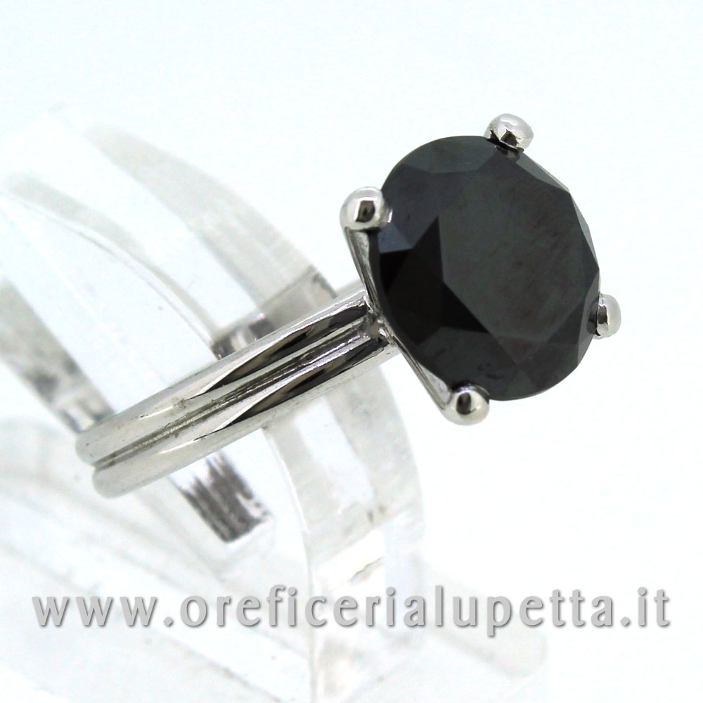 Anelli Solitario Diamante Nero 3