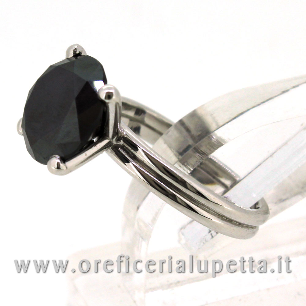 Anelli Solitario Diamante Nero 4
