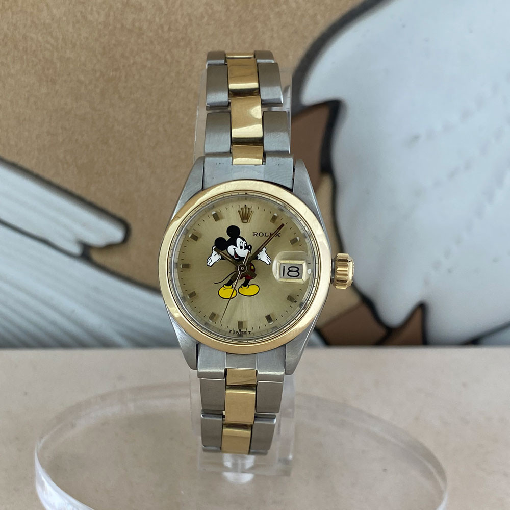 Rolex Datejust Lady Quadrante Mickey Mouse Topolino Aftermarket 6917 0
