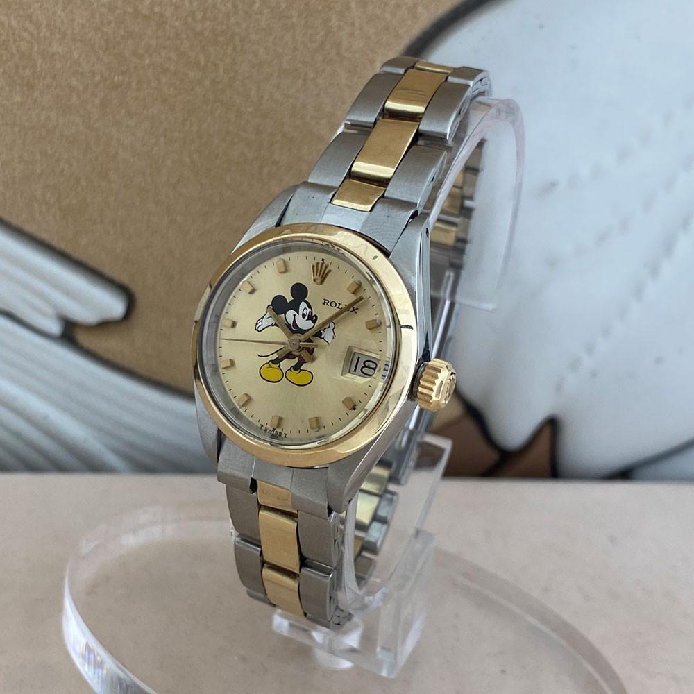 Rolex Datejust Lady Quadrante Mickey Mouse Topolino Aftermarket 6917 1