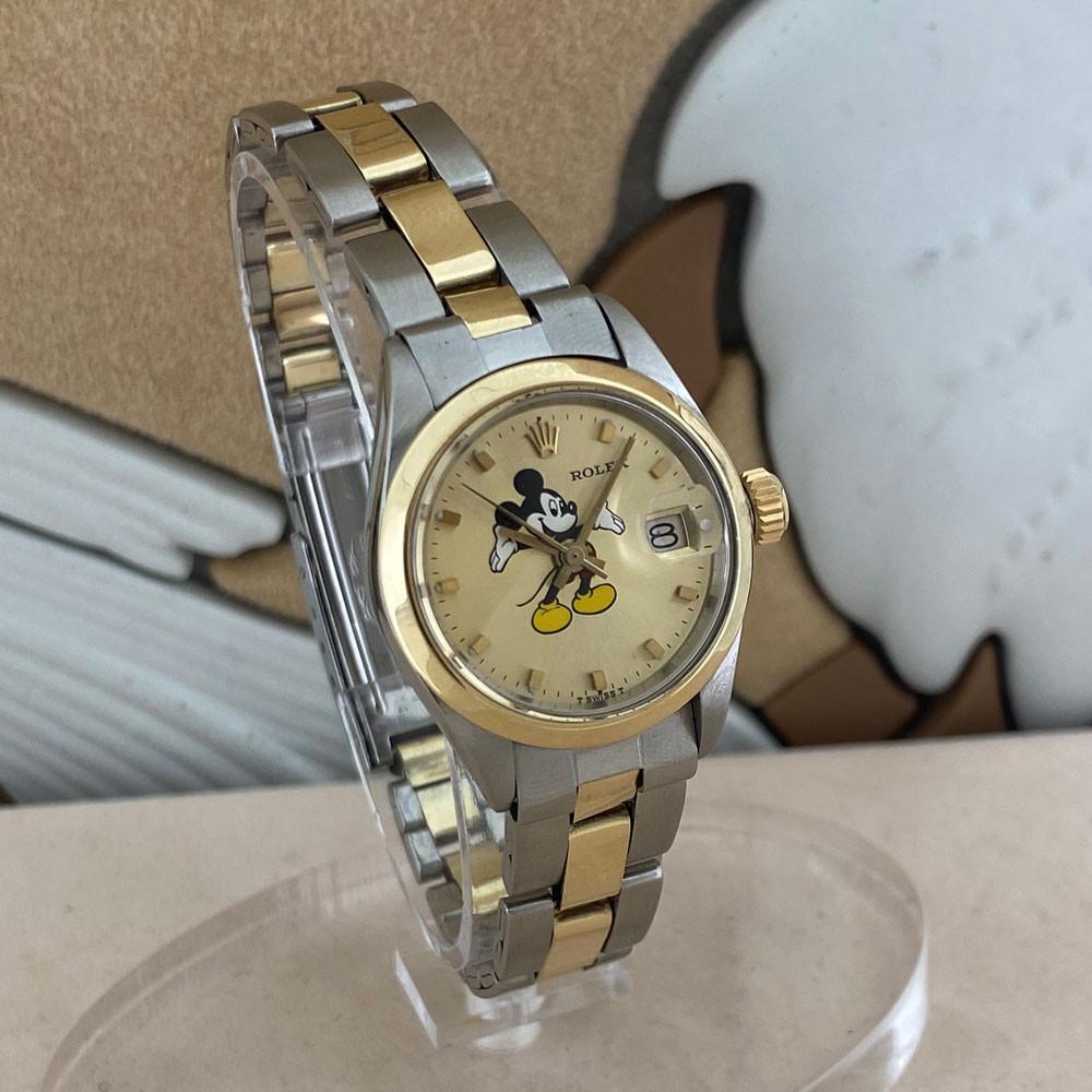 Rolex Datejust Lady Quadrante Mickey Mouse Topolino Aftermarket 6917 2