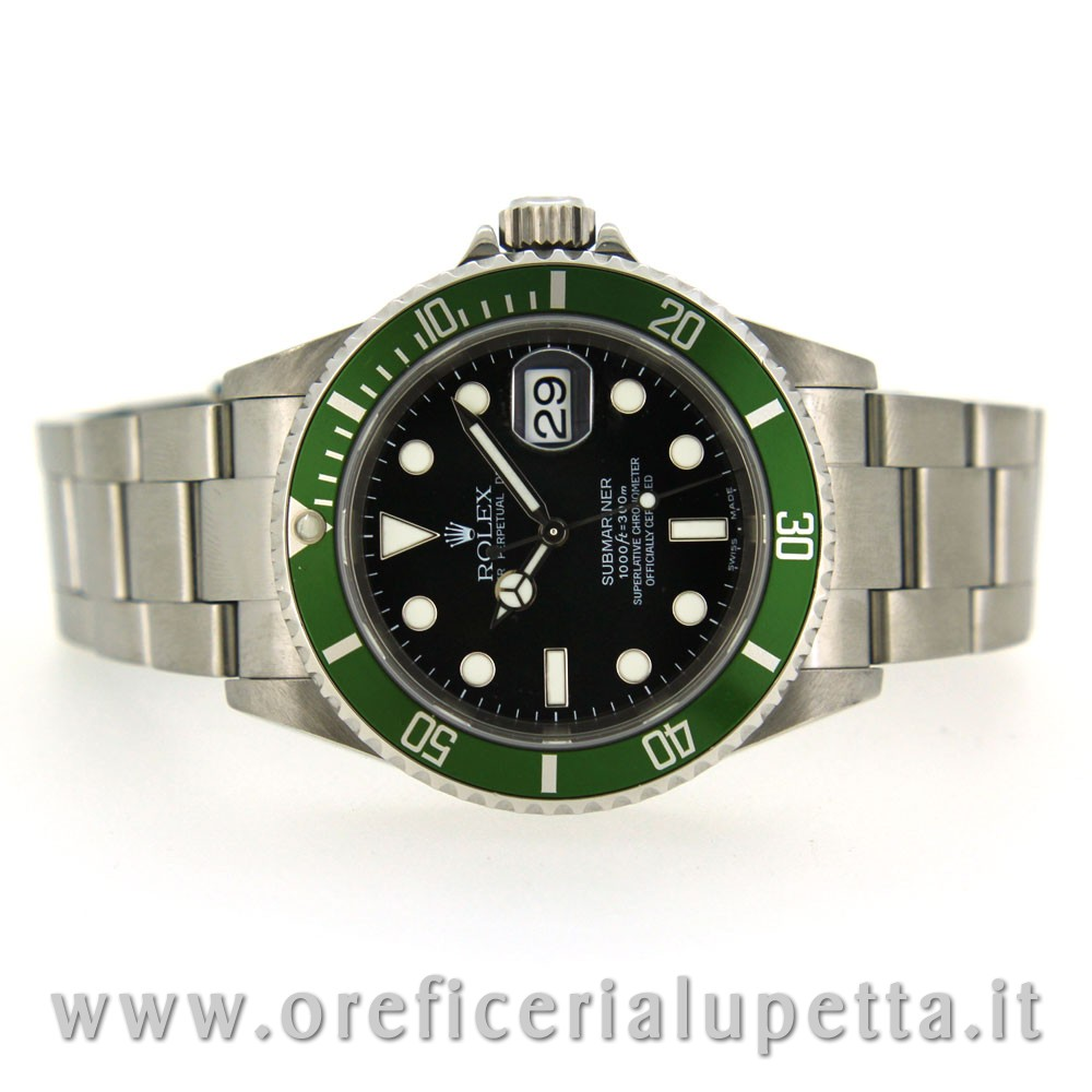 be6d1ebf6c8 Orologio Rolex Submariner Ghiera Verde Fat Four 16610LV