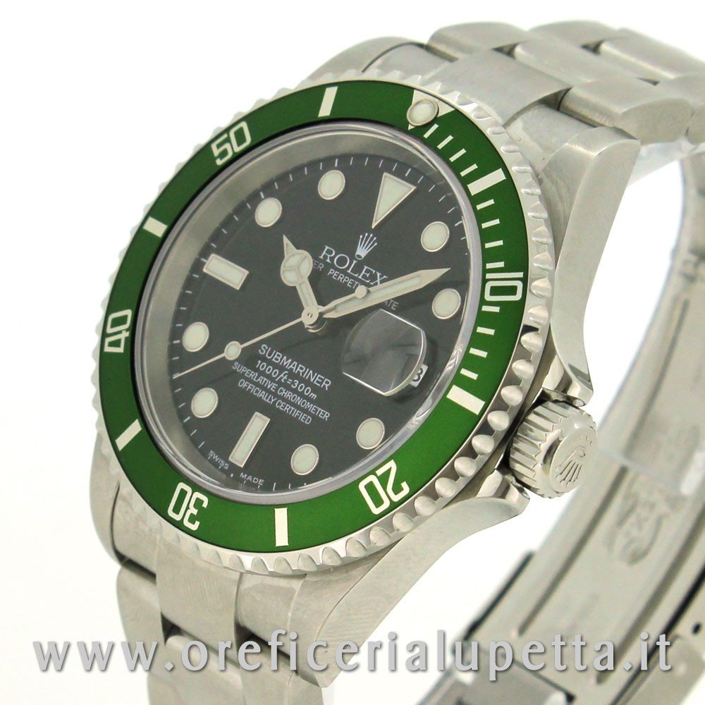 b2d4d277064 ... Rolex Submariner Ghiera Verde Fat Four 16610LV 2 ...